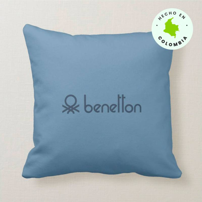 Benetton - Cojín Liso Azul 45 x 45 cm