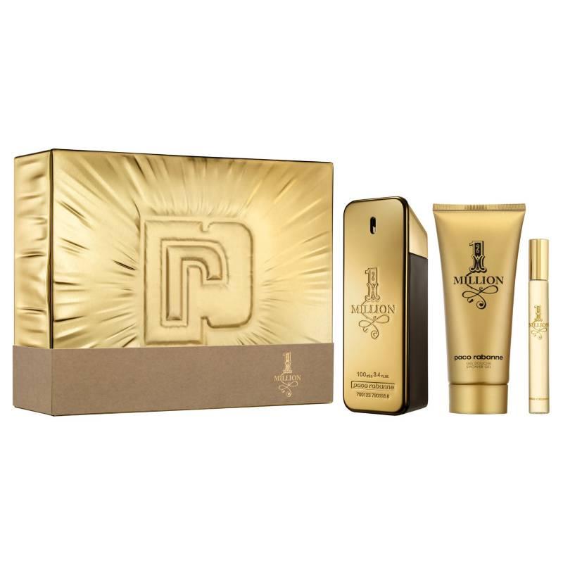 Paco Rabanne - Set de Perfumería Paco Rabanne 1 Million EDT 100 ml + Shower Gel 100 ml + Spritzer 10 ml Hombre