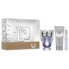 Paco Rabanne - Set de Perfumería Paco Rabanne Invictus EDT 100 ml + Showe Gel 100 ml + Spritzer 10 ml Hombre