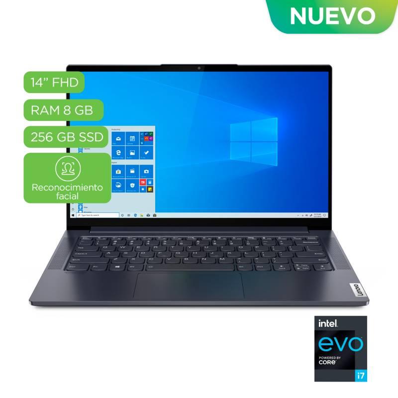Lenovo - Portátil Lenovo YogaSlim7 14 pulgadas Intel Core i7 8GB 256GB