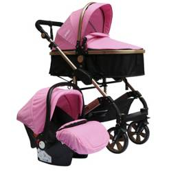 Priori - Coches Travel System Frezzio 4 en 1 Rosa