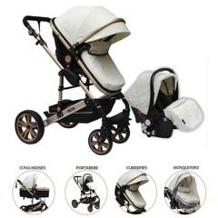 Priori - Coches Travel System 4 en 1 Blanco