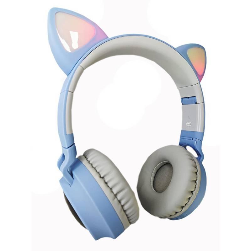 GENERICO - Diadema audífonos orejas de gato luces led mic
