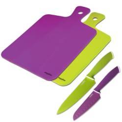 Mageflón - Set 2 cuchillos+2 tablas