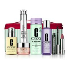 Clinique - Set Clinique Tratamiento Facial y Maquillaje  Best of Clinique (7 productos más vendidos + Maletín)
