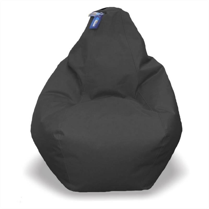 ESTILORELAX - silla puff pera talla l  negro  cuerotex