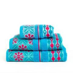 Amare - Juego de toallas amare x3 turquesa sofia
