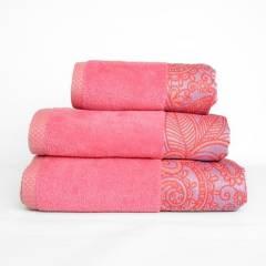Amare - Juego de toallas premium amare rosa