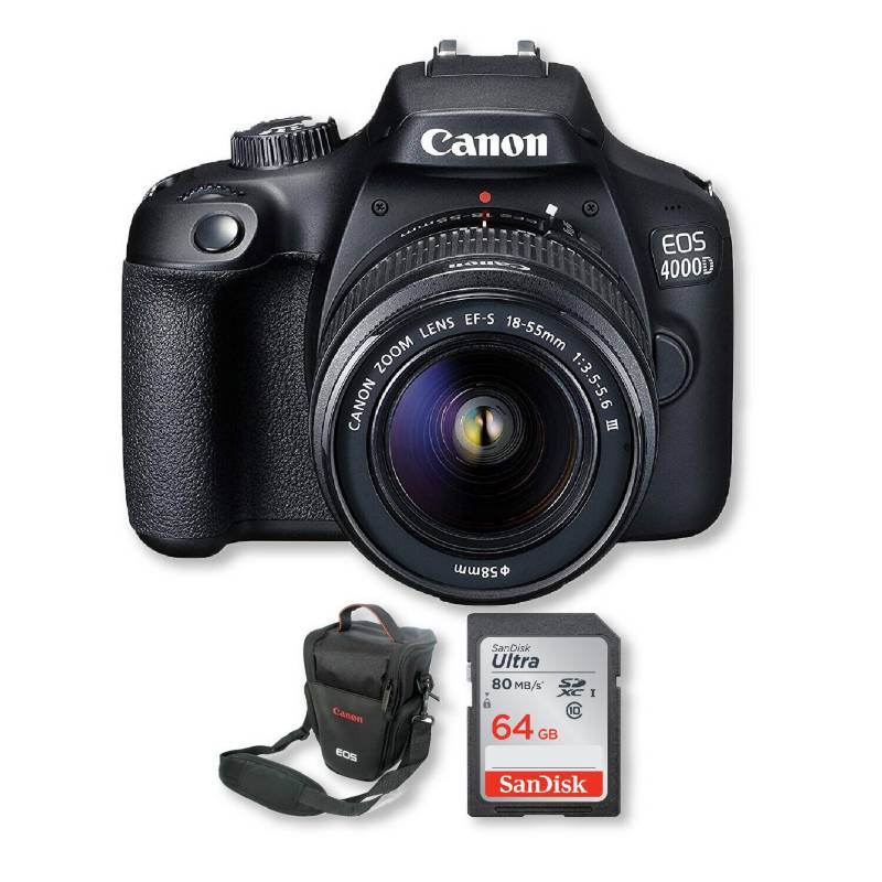 Canon - Canon 4000d lente 18-55mm + memoria 64gb + bolso