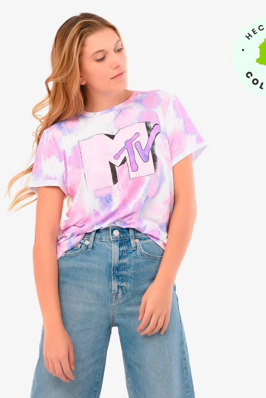 Denimlab - Camiseta Mujer Manga Corta Denimlab