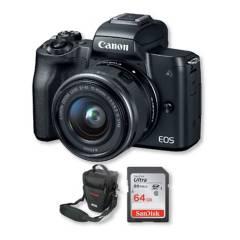 Canon - Canon m50 4k lente 15-45mm + memoria 64gb + bolso
