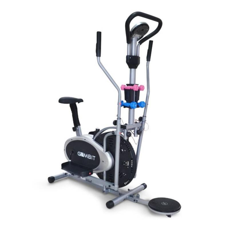 Homesale - eliptica 7 en 1 bicicleta estática twister pesas