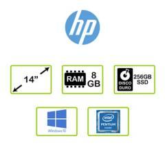 HP - Portátil HP Laptop 14 pulgadas Intel Pentium 8GB 256GB