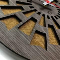Hechoenlaser - Reloj de pared ref 003 amarillo