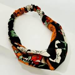 AZ ACCESSORIES - bandana mujer flores  poliéster az accesorios