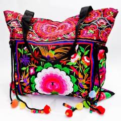 AZ ACCESSORIES - bolso mujer tejido tibetano flor az accesorios