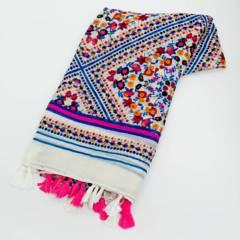 AZ ACCESSORIES - bufanda mujer multi flores poliéster az accesorios