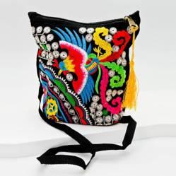 AZ ACCESSORIES - bolso pajaro tejido tibetano az accesorios