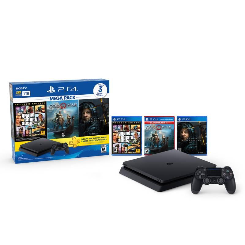 PlayStation - Consola PS4 Megapack 1TB