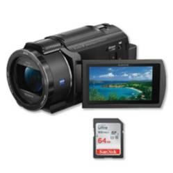 Sony - Sony fdr-ax40 4k vídeocámara + memoria de 64gb