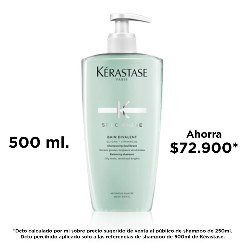 Kerastase - Shampoo Cuero Cabelludo Graso Bain Divalent 500 ml