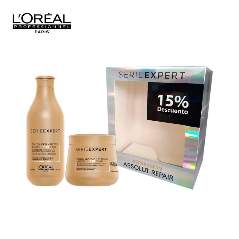 Loreal Serie Expert - Kit Rutina Reparación: Shampoo + Mascarilla Absolut Repair