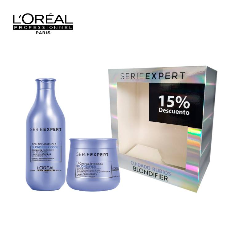 Loreal Serie Expert - Kit Rutina Cuidado Rubios: Shampoo + Mascarilla Blondifier