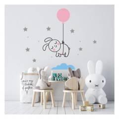 MOON LAMP - Vinilo decorativo de conejo para bebés