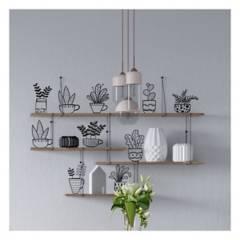 MOON LAMP - Vinilo decorativo floral mini plantas