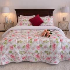 Amare - Cubrelecho ovejero doble rosa amare