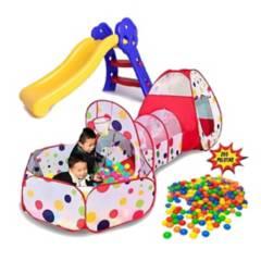 GENERICA - Piscina tunel carpa deslizadero infantil  pelotas