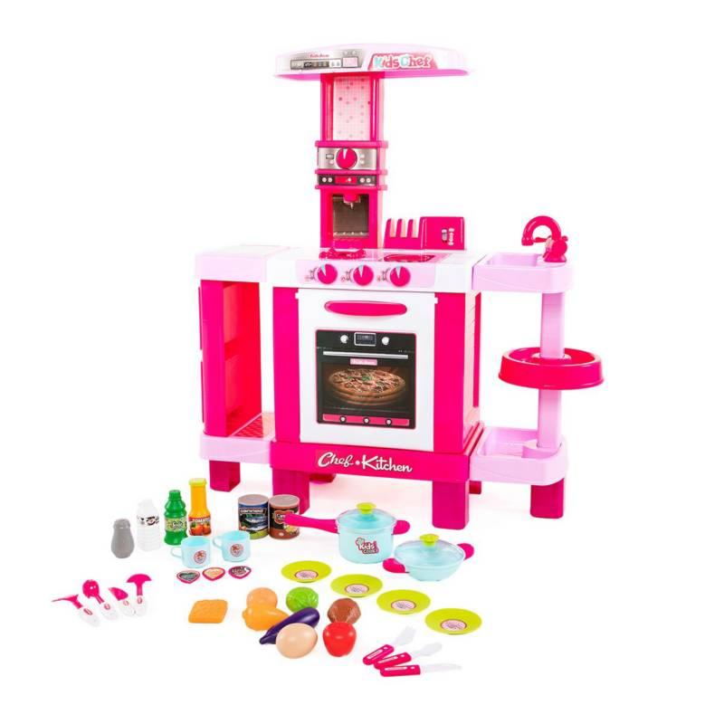 GENERICO - Cocina infantil grande niñas luces  sonido juguet