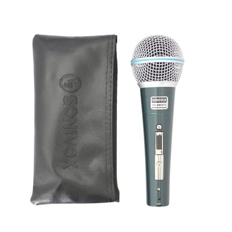 Sonic - Microfono profesional alambrico para karaoke
