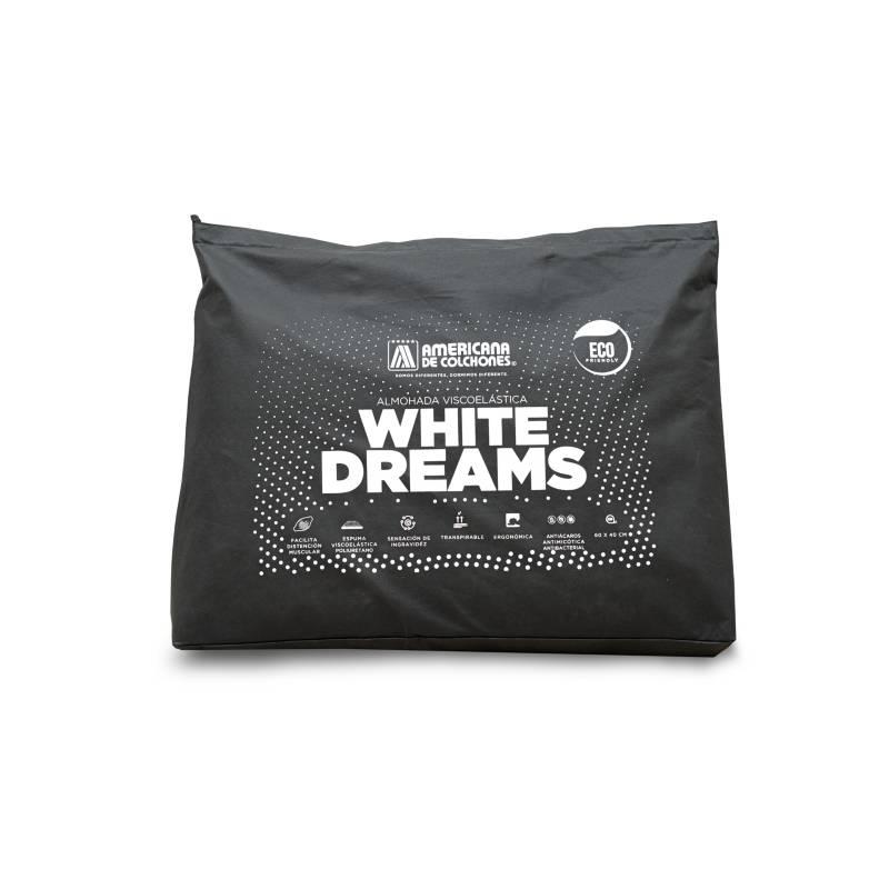 Americana de Colchones - Almohada Viscoelástica Eco White 60 x 40 cm
