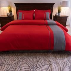 Amare - Duvet para cama doble rojo - forro para plumón