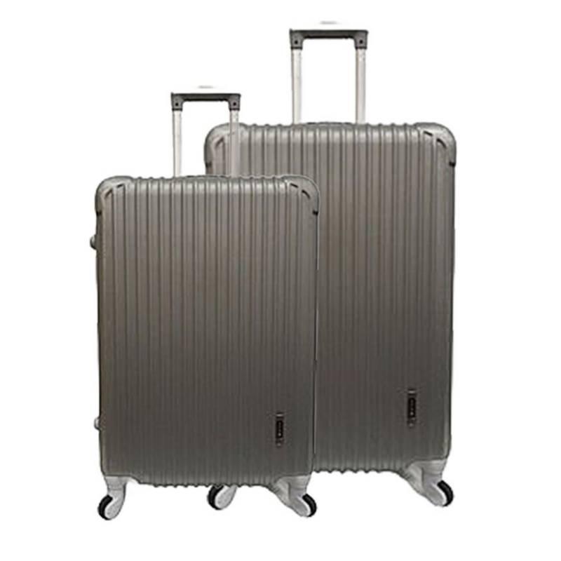 BIN COLOMBIA - Set x2 maleta de viaje ref.  W-437 gris 19+25 pul