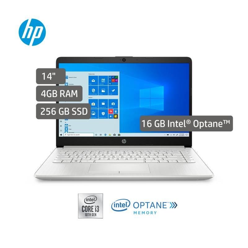 HP - Portátil HP Laptop 14 pulgadas Intel Core i3 4GB+16GB optane 256GB SSD