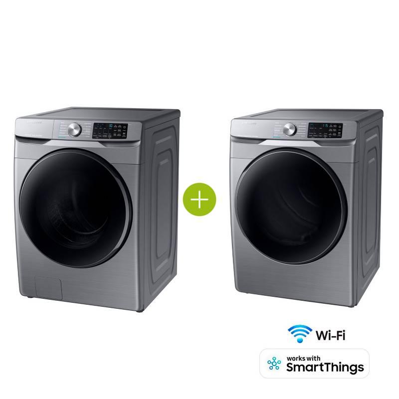Samsung - Combo Lavadora y Secadora 22 kg WF22R6270AP/CO