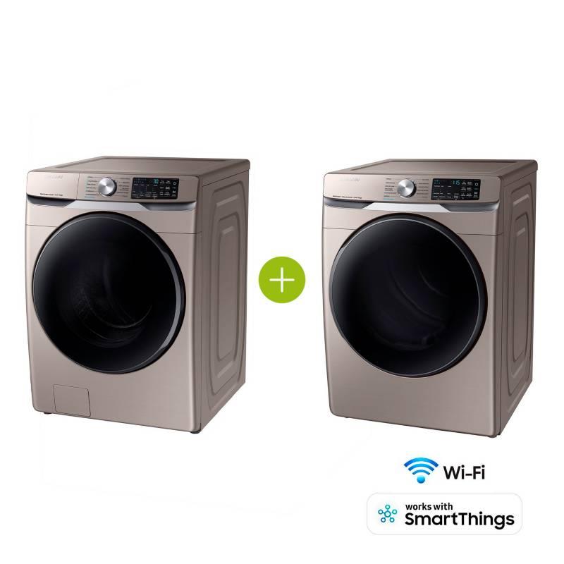 Samsung - Combo Lavadora y Secadora 22 kg WF22R6270AC/CO