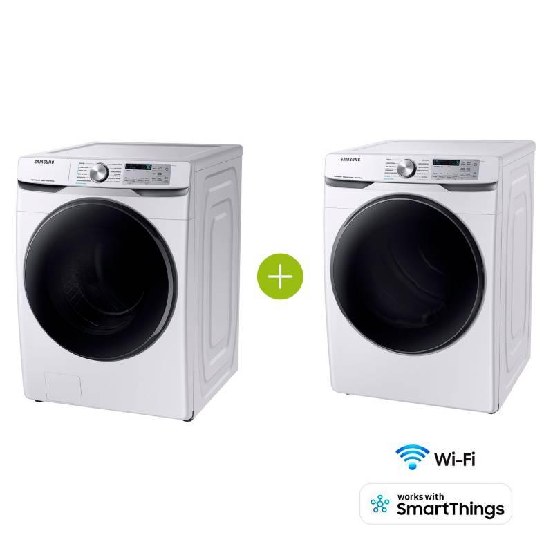 Samsung - Combo Lavadora y Secadora 22 kg WF22R6270AW/CO