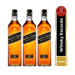 JOHNNIE WALKER - Set x3 Botellas Johnnie Walker Black Label 700 ml