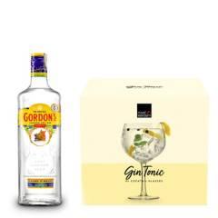 Gordon's - Botella de Gordons Dry + Set x4 Copas GinTonic