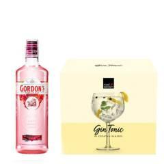 Gordon's - Botella de Gordons Pink + Set x4 Copas GinTonic