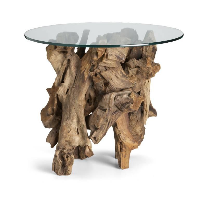 Crate & Barrel - Mesa Lateral Circular Driftwood