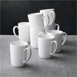 Crate & Barrel - Juego de 8 Mugs Mercer