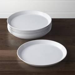 Crate & Barrel - Setx 8 Platos Principales Verge en Porcelana 27 cm