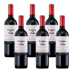 6 Botellas Vino Tinto Casillero Del Diablo Cabernet Sauvignon 750