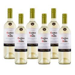 6 Botellas Vino Casillero Del Diablo Sauvignon Blanco 750