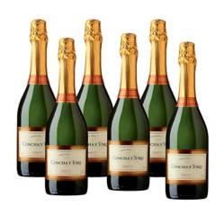 6 Botellas Vino Espumoso Chardonay Brut 750
