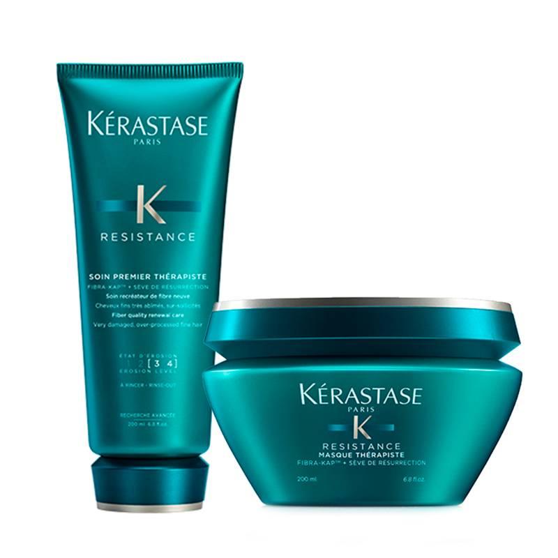 Kerastase - Kit Reparación Therapiste: Shampoo Bain Therapiste 250 ml + Mascarilla Therapiste 200 ml